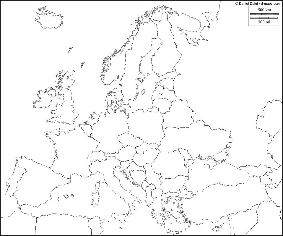 Cartina Europa Politica Muta Da Stampare.Cartina Muta Europa Online